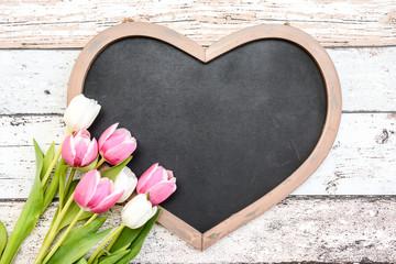 Tafel blank Tulpen