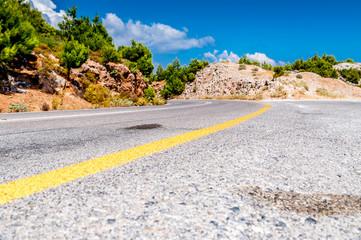 Road on Samos island