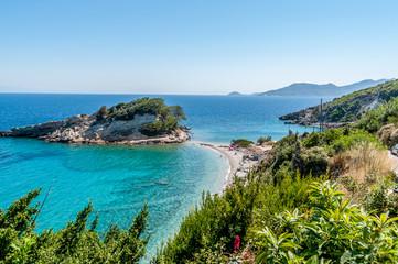 Beach on Samos island