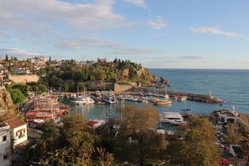 Panoramic view of the marina