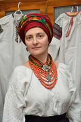 Ukrainian woman in the traditional garment