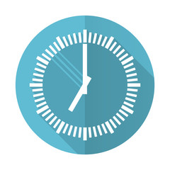 time blue flat icon clock sign