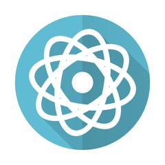 atom blue flat icon