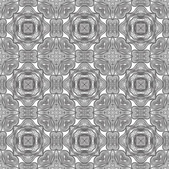 Seamless monochrome pattern.