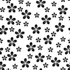Abstract seamless background with graphic floral pattern