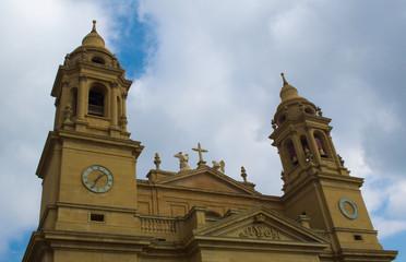 cathedral de santa maria la real in spanish pamplona.