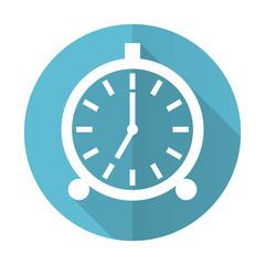 alarm blue flat icon alarm clock sign