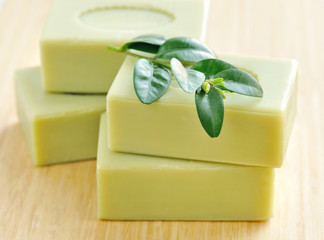 Natural handmade soap. Spa