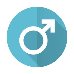 male blue flat icon male gender sign
