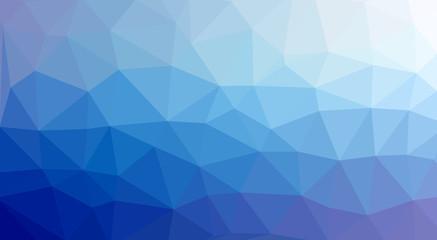 low poly Hintergrund blau