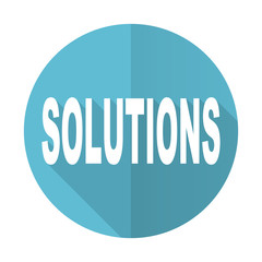 solutions blue flat icon