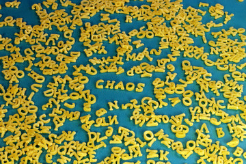 Buchstaben- Chaos