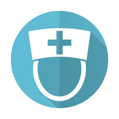 nurse blue flat icon hospital sign