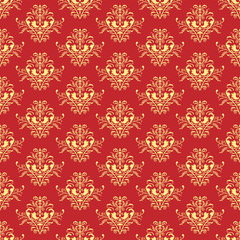 Retro-styled seamless pattern.