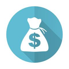 money blue flat icon