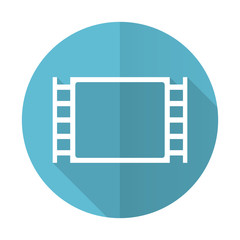 movie blue flat icon