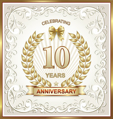Anniversary postcard for 10 years