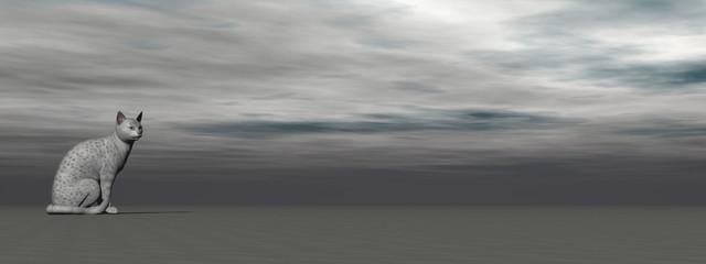 Silver mau cat - 3D render