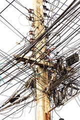 Power pole tangle