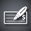 Vector bank check icon