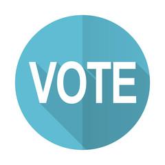 vote blue flat icon