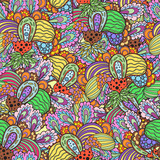Fototapeta Seamless fruit pattern.