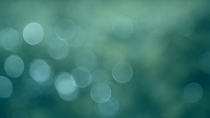 Abstract green blue blurred bokeh