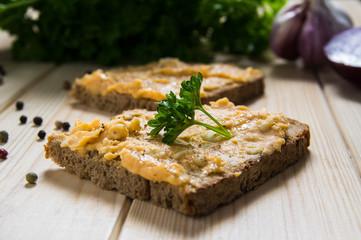 Obatzda auf Brot