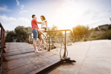 railing couple