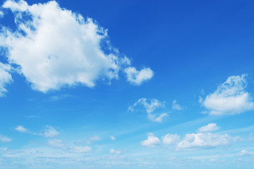 soft clouds in the blue sky