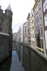 Amsterdam oudezijds achterburgwal bend canal