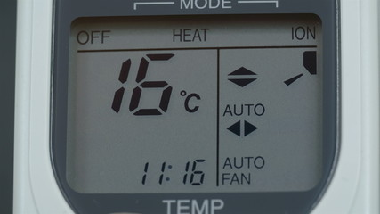 Aircon temperature going down