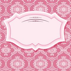 Frame in pastel pink.