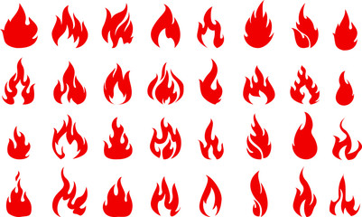 Fire icons set for you design