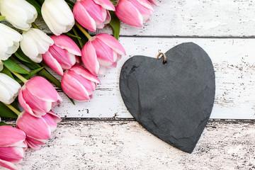 Herz Blanko Tulpen