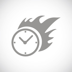 Hot clock black icon