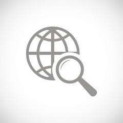World scan black icon