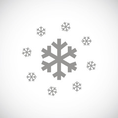 Snow black icon