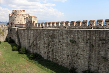 View of wall of Yedikule Fortress