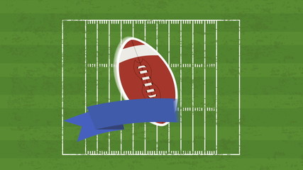 Football Field and ball, Video animation, HD 1080