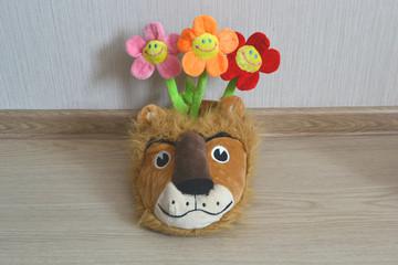 цветы в тапочке