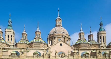 basilica del pilar in spanish zaragoza.