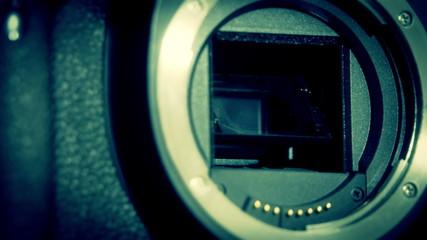 A dslr camera lens holder
