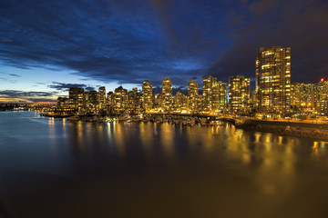 Vancouver BC Skyline by Marina at Twilight