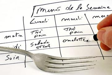 Les menus de la semaine