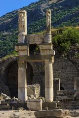 View of ruins of Ancient Ephesus in Turkey