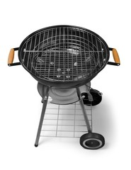 Bbq. kettle barbecue grill on backyard