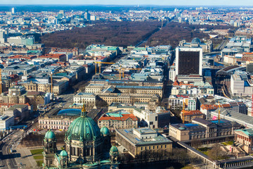 Aeria view of the city of Berlin in Germany