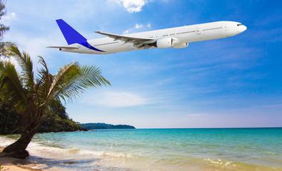 Tropical holidays on the sunny beach