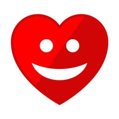 Icono corazon con simbolo alegria